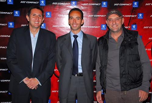Varsky, Stephane Levi director de MKT Peugeot, y Goiti
