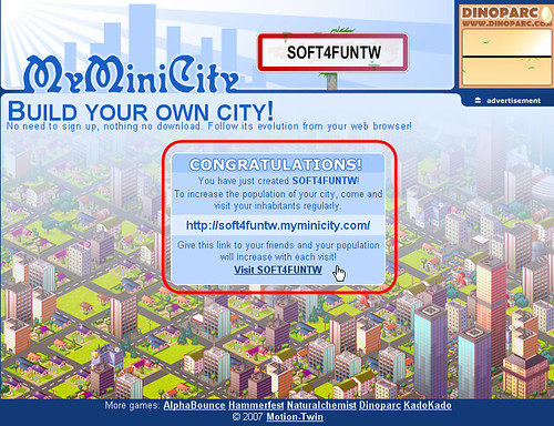 [好玩遊戲] 網頁版模擬城市,寫部落格也可以蓋城市哦 - myMinicity 2850127481_2e4f83ae61