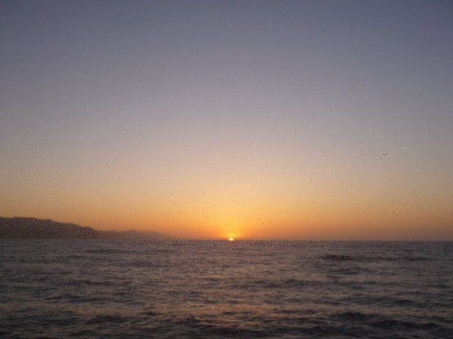 Sunset on Catalina Express Ferry