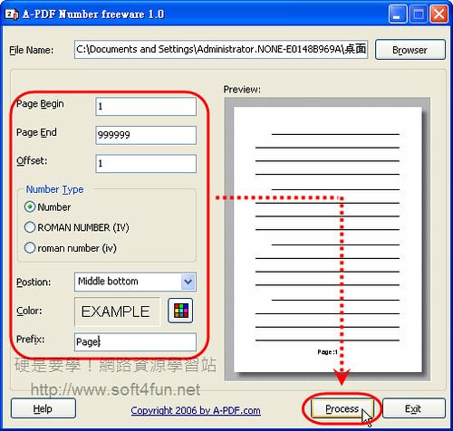 A-PDF Number:在PDF文件直接加上頁碼 2984285680_7fdf4dc01a
