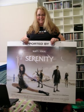Jeannie and her Serenity swag.