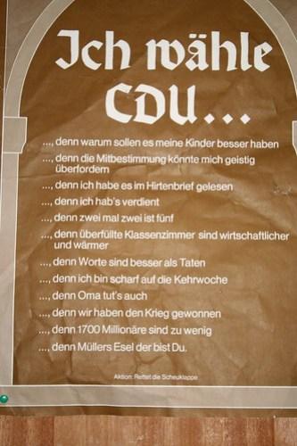 Ich wähle CDU...