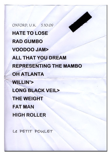 Little Feat Oxford set list
