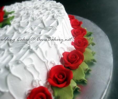 Wedding Cakes | Red & White wedding