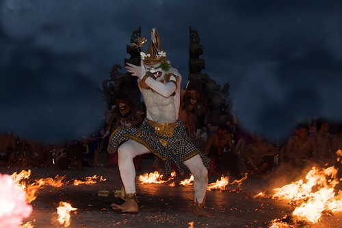 Hanuman faces the fire