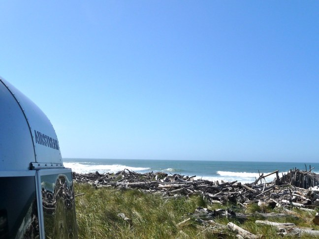 I spent Labor Day hanging out at a totally secluded Gold Beach