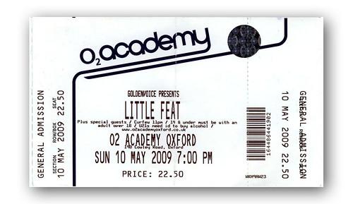 Little Feat ticket