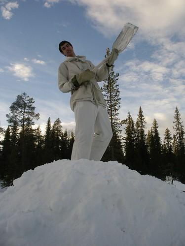 El Michi prensando la nieve