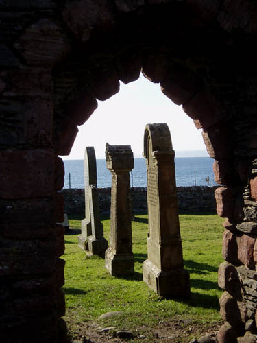 Skipness Chapel gravestones