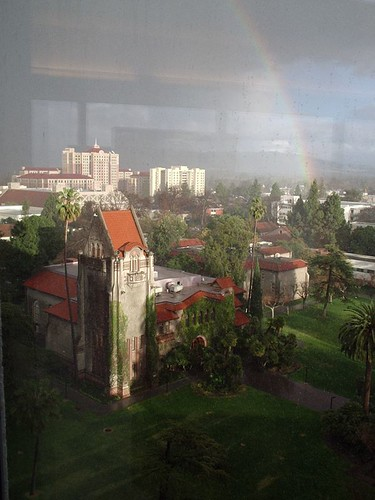 tower hall in the rain(bow)