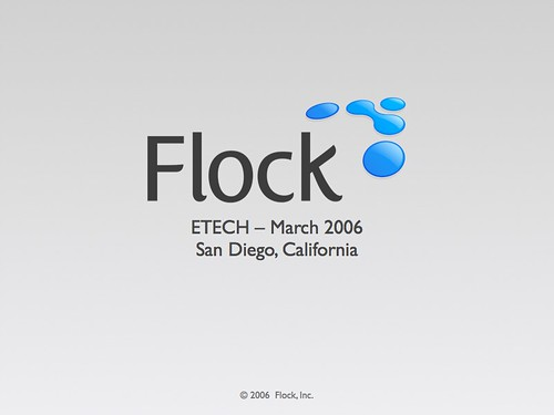 Flock eTech 2006 slides available