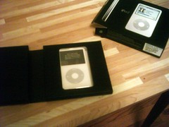 Opened inner box showing iPod