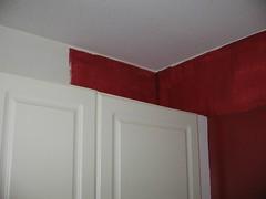 Yeah blood red kitchen half done blah