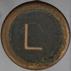 typewriter key letter L
