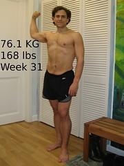 Week 31, 76.1 kg
