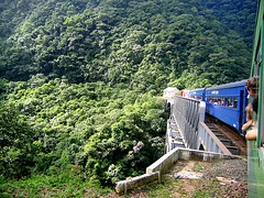 Tren Serra Verde, sobre el puente