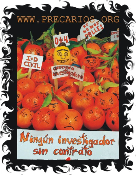 Manifestación de naranjas