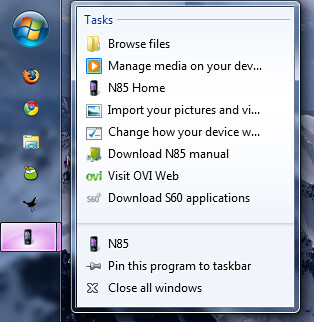 2009-01-22_1949 - N85 right click in taskbar in windows 7