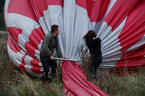 Išstumti orą iš baliono