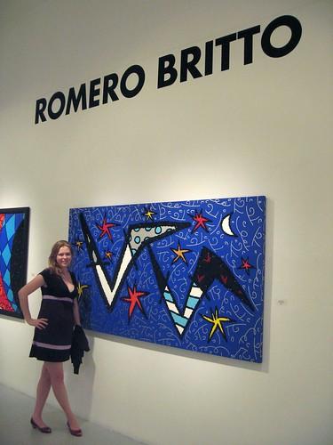 Me @ Romero Britto gallery