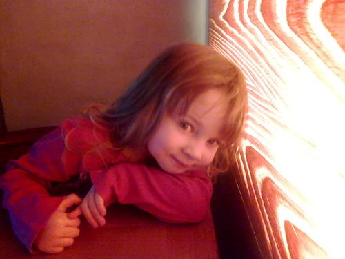 Anna op restaurant