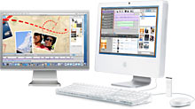 iMacs have DVI out + video spanning