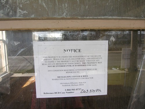 HUD foreclosure notice