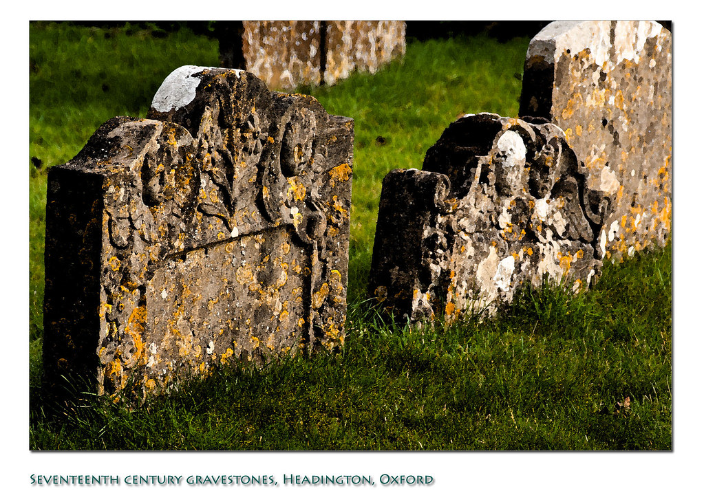 Seventeenth century gravestones