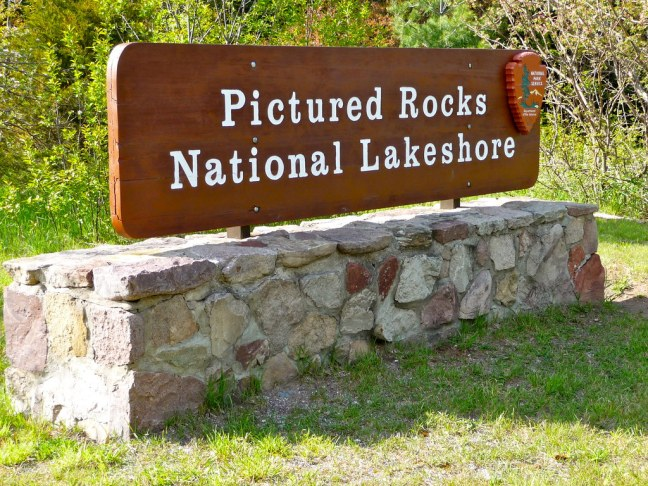 Entrance to Pictured Rocks National Lakeshore