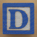 Educational Brick Letter D