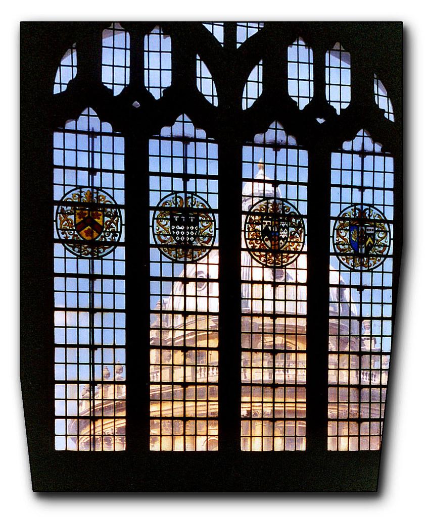 Radcliffe Camera through church window