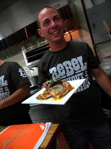 Matt Basile Presenting Bulgogi Ravioli
