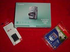 Canon Digital IXUS 750 mit Ersatzakku und 1GB-SD-Speicherkarte