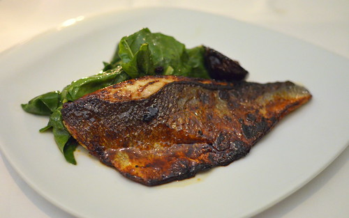 Lokanta Maya - Main: Caramelised seabass with chard and figs