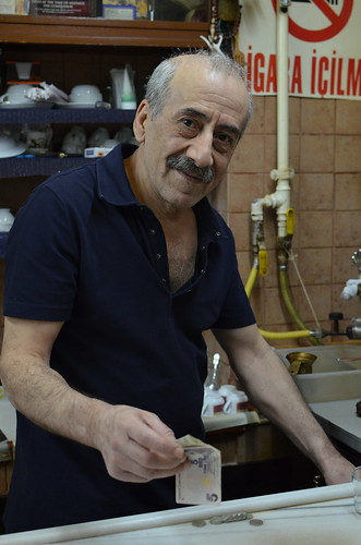 The man who made my fantastic Turkish coffee