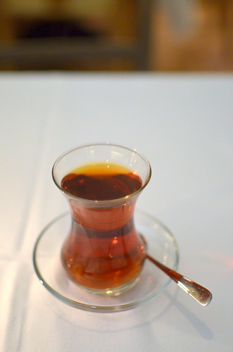 A cup of chay in Istanbul this evening