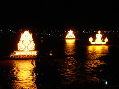 lighted boats