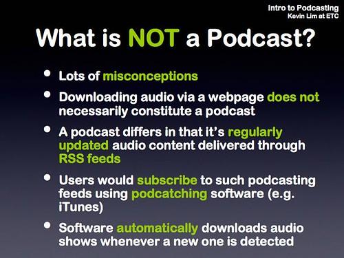 Intro to Podcasting @ ETC