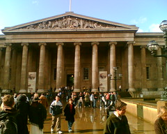 British museum after rain