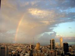 Rainbow over Tel Aviv