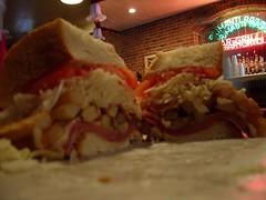 Image close up of a big Primanti's sandwich