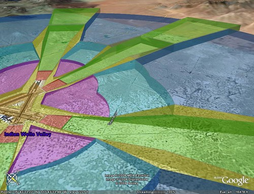 Imaginary Surfaces in Google Earth