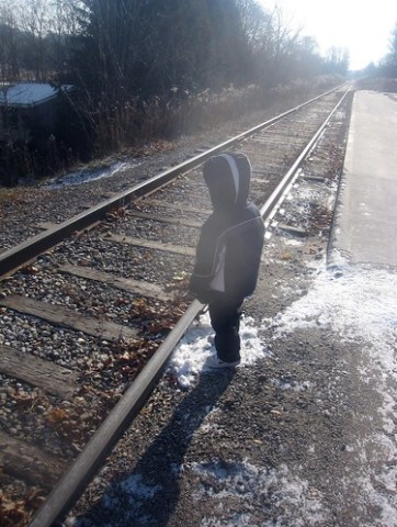 Jacob Waiting for Train