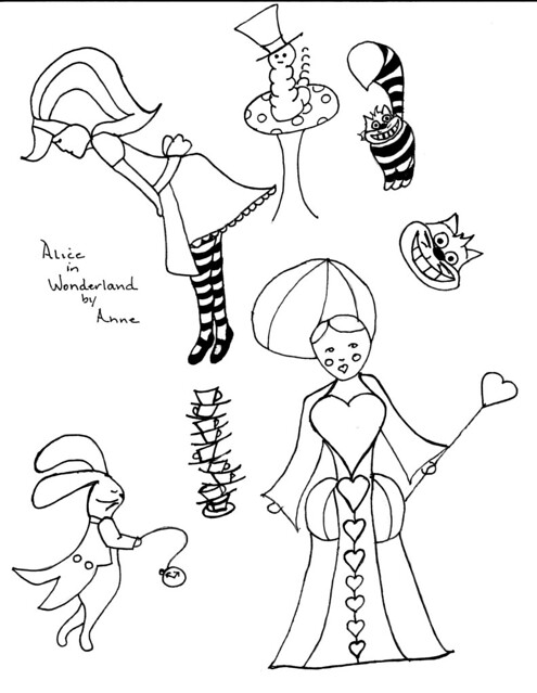 ALICE EMBROIDERY IN PATTERN WONDERLAND « EMBROIDERY & ORIGAMI