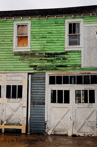 Green Garage Second Story Side View