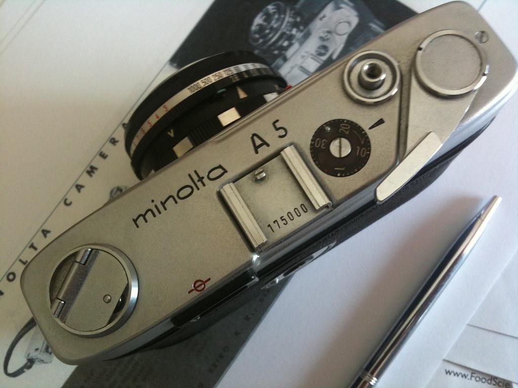 Minolta A5 top plate
