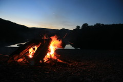 Time for fire to walm us up - ready for some star gazing