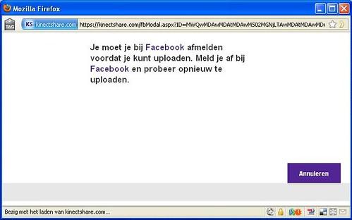Kinectshare to FB Step 1
