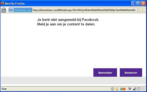 Kinectshare to FB Step 2