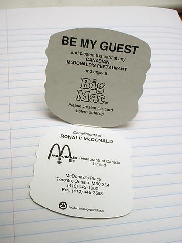 McDonald's Gift Card 2